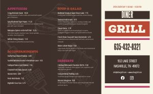 Grill Steakhouse Takeout Menu