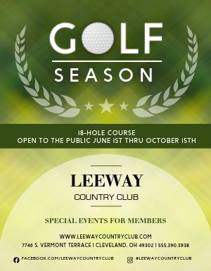 Golf Season Flyer