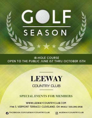 Golf Season Flyer