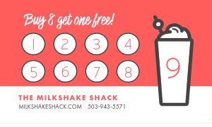Milkshake Loyalty Card