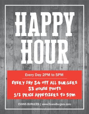 Happy Hour Promo Flyer