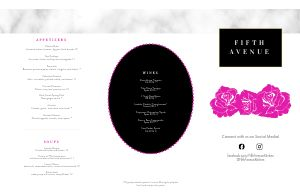 Fine Dining Roses Folded Menu