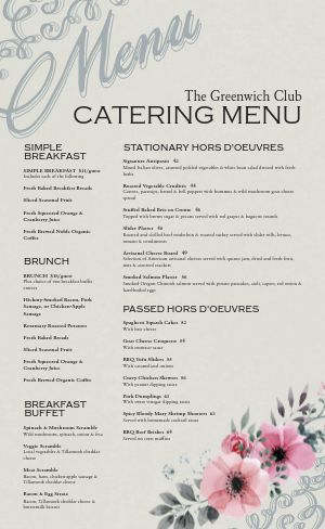 Banquet Catering Menu