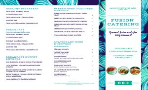Electric Catering Takeout Menu