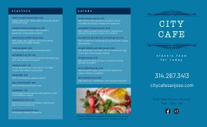 Azure Cafe Takeout Menu