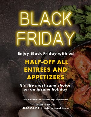 Black Friday Food Flyer