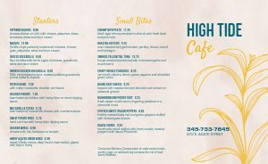 Beachfront Cafe Takeout Menu