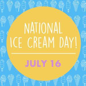 National Ice Cream Day Instagram Post