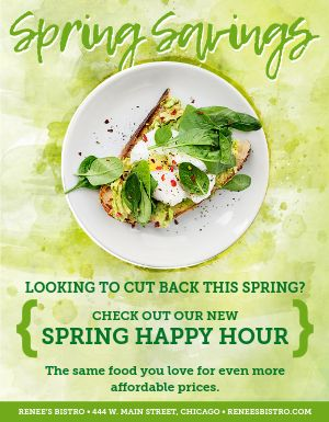 Spring Happy Hour Flyer