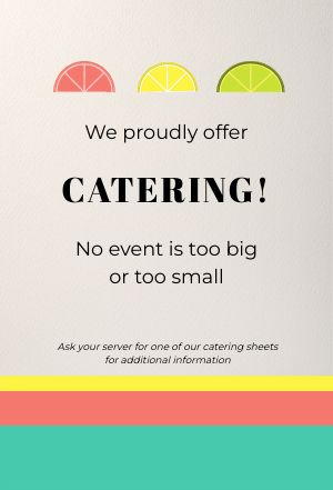 Mexican Catering Table Tent