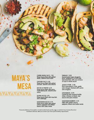 Mexican Taco Spread Menu