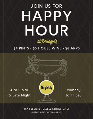 Upscale Happy Hour Flyer