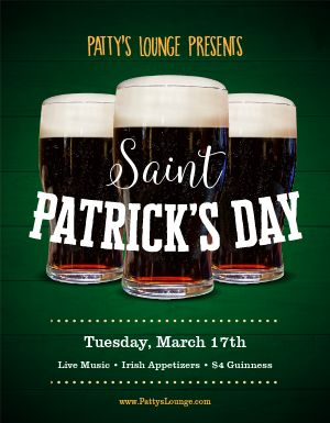 St Patricks Day Bar Flyer