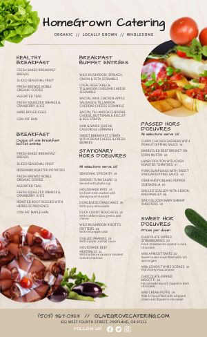 Salad Catering Menu
