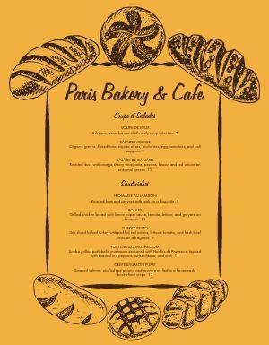 French Bakery Menu