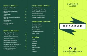 Contemporary Beer Folded Menu