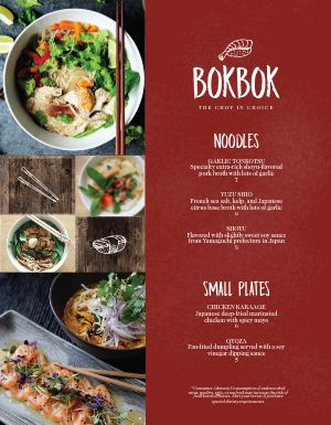 Asian Bowl Menu
