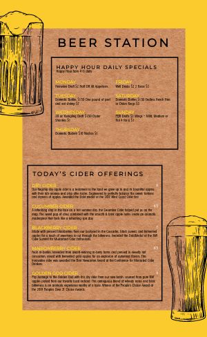 Beer Menu Example