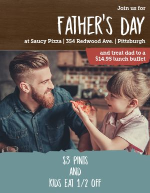 Fathers Day Kids Specials Flyer
