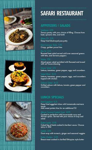 Gourmet African Menu