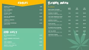 Cannabis Digital Menu Board