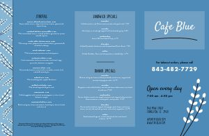 Cafe Lily Folded Menu