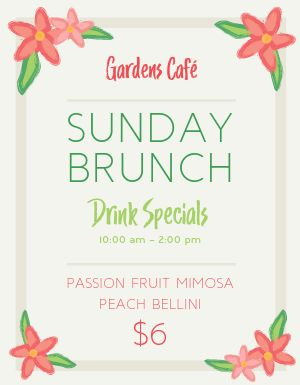 Garden Brunch Flyer