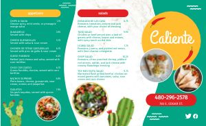 Cactus Mexican Takeout Menu
