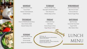 Elegant Dining Hall Digital Menu Board