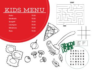 Pizza Toppings Menu