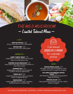 Quick Takeout Menu