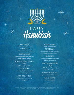Hanukkah Festive Menu