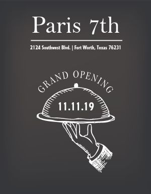 Simple Grand Opening Flyer