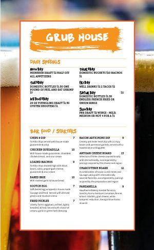 Sample Beer Menu