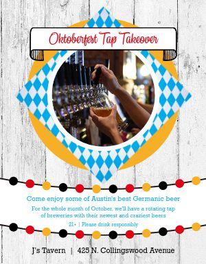 Oktoberfest Tap Takeover Flyer