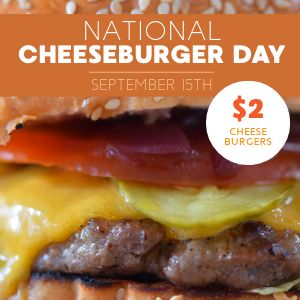 Cheeseburger Day Instagram Post