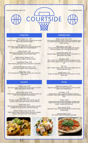 Sports Bar Menu Inspiration