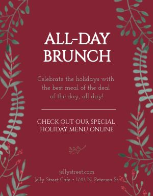 Holiday Brunch Flyer