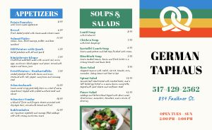 Basic German Takeout Menu