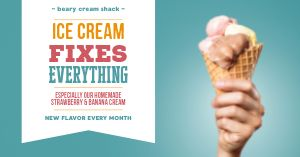 Ice Cream Fix Facebook Post