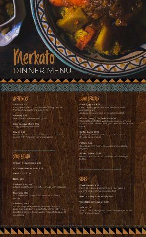 African Eatery Menu