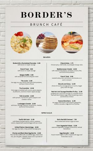 Brick Breakfast Menu