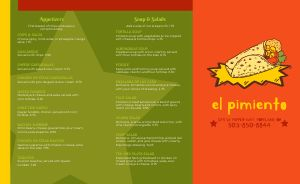 Bright Stars Mexican Takeout Menu