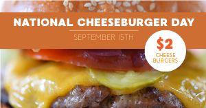 Cheeseburger Day Facebook Post