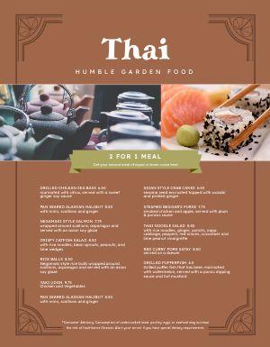 Thai Garden Menu