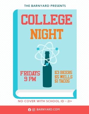 College Student Night Flyer