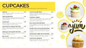 Cupcake Digital Menu Board