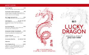 Chinese Takeout Menu Inspiration