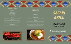 African Restaurant Takeout Menu