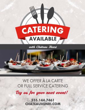 Catering Available Flyer
